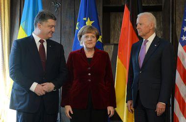 Порошенко, Меркель и Байден скоординировали шаги по переговорам о новом мирном плане