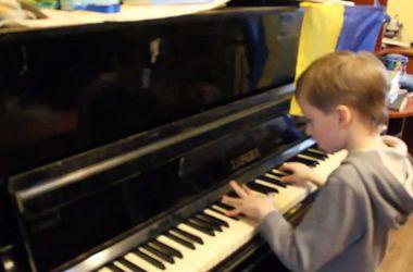 8-летний мальчик из Харькова записал послание к врагам