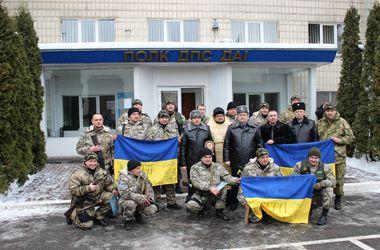 В Киеве встретили работников ГАИ, которые вернулись из зоны боевых действий