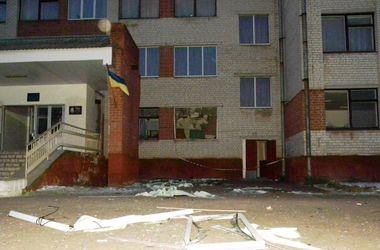 <p>В школе выстрелил гранатомет. Фото: cn.mns.gov.ua</p>