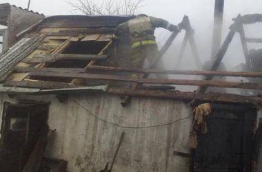 В Киеве горел сарай, погибла женщина