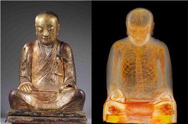 Ученые обнаружили в статуе Будды тысячелетнюю мумию монаха