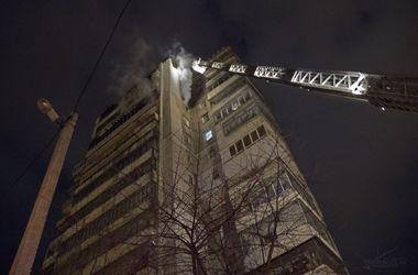 Во Львове горел 14-этажный дом