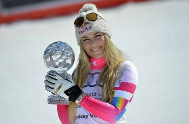 Линдси Вонн выиграла седьмой в карьере Малый хрустальный глобус