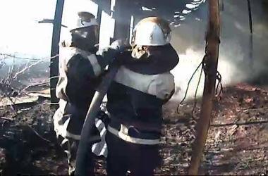 Под Киевом горели сеновал и коровник