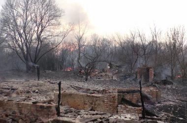 В Черниговской области в пожаре сгорела часть села