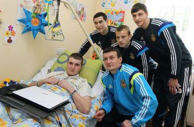 Футболисты сборной Украины проведали героев АТО во Львове