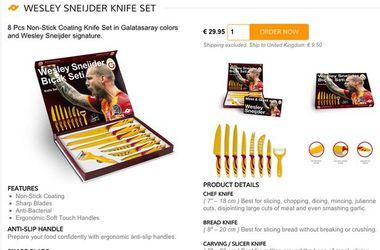 """Игрок """"Галатасарая"""" удалил рекламу фирменных ножей из-за годовщины гибели фанатов """"Лидса"""" в Турции"""
