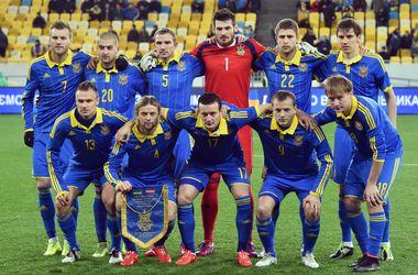 Сборная Украины потеряла два места в рейтинге ФИФА