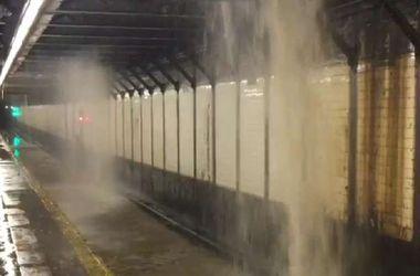 В метро Нью-Йорка случился потоп