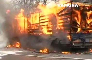 В Тернопольской области горела фура с туалетной бумагой