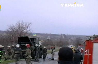 Горевший военный бензовоз в Запорожской области потушили за пять минут