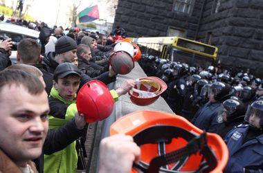 Бунт шахтеров в Киеве: горняки под Радой, АП и Кабмином требовали зарплат и отставки министра