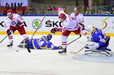 Сборная Украины проиграла полякам на ЧМ по хоккею