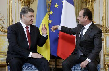 Референдум о вступлении в НАТО и безвизовый режим. О чем говорили Порошенко и Олланд