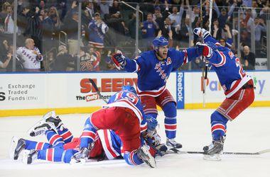 """Плей-офф НХЛ: """"Рейнджерс"""" стал вторым участником четвертьфинала"""