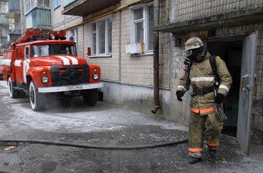 Под Киевом из-за удара молнии сгорел дом