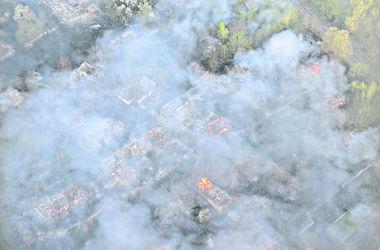 Пожар в Чернобыльской зоне: самоселы хотели тушить огонь из ведер, а коров отпустили спасаться