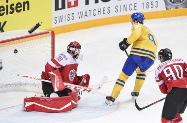 Сборная Швеции разгромила Австрию на ЧМ по хоккею