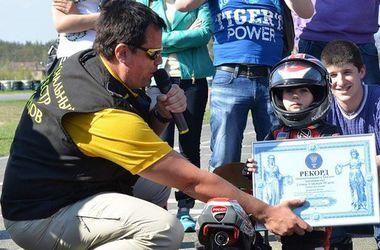 В Киеве живет самый юный мотоциклист в Украине