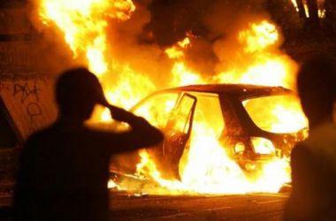 В Киеве массово горели иномарки