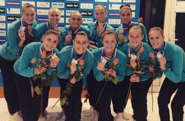 Сборная Украины стала второй на Кубке Европы по синхронному плаванию