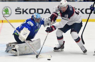 Американцы обыграли Словению на хоккейном чемпионате мира