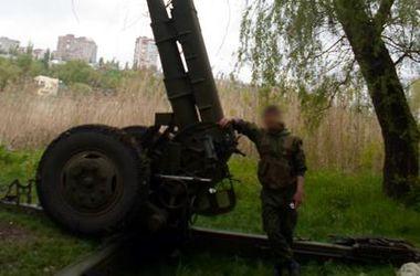 Боевики установили гаубицы в центре Донецка