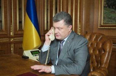 Порошенко и Керри скоординировали дальнейшие действия для деэскалации ситуации на Донбассе