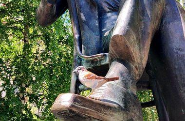 Киевский скульптор украшает город воробьями