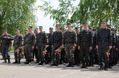 В Харькове встретили 300 бойцов Нацгвардии, которые вернулись с войны