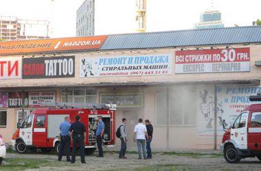 В центре Киева подожгли офис центра по сбору помощи для украинских бойцов