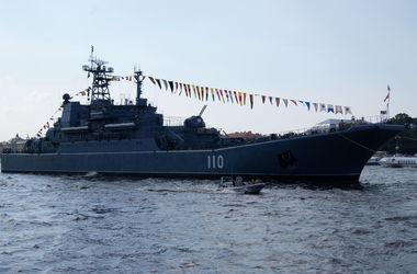 Десантный корабль Балтийского флота РФ вошел в Ла-Манш