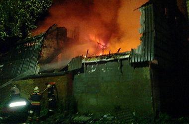 В Киеве сгорел частный дом