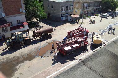 В Запорожской области горел торговый центр