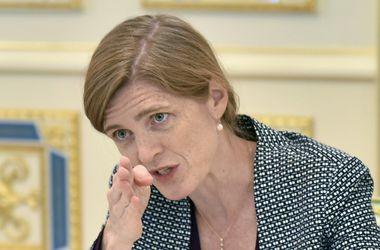 Выступление посла США в ООН Саманты Пауэр в Киеве