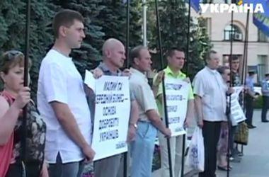 В Харькове предприниматели митинговали против кассовых аппаратов