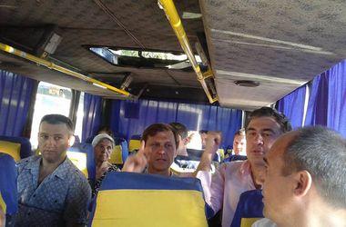 На открытие набережной под Одессой Саакашвили приехал на общественной маршрутке