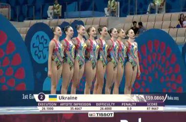 """Украинские синхронистки выиграли """"бронзу"""" Европейских игр"""