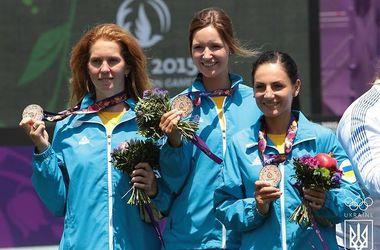 Украинские лучницы завоевали медаль Европейских Игр