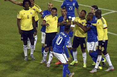Неймар дисквалифицирован на два матча за потасовку после игры с Колумбией