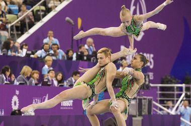 Выступление украинских гимнасток на Европейских играх