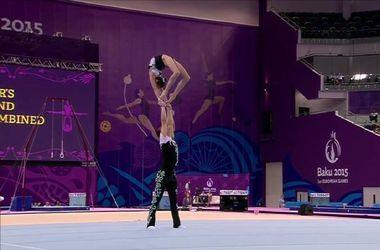 Украинская пара по спортивной акробатике стала четвертой на Европейских играх