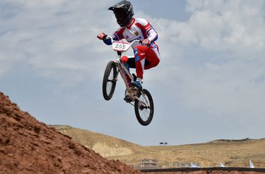 """""""Летающие велосипедисты"""" на Европейских играх"""