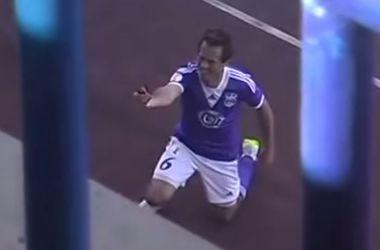 Белорусский игрок сделал предложение девушке во время матча