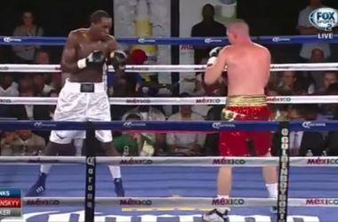 Украинец Шабранский нокаутрировал соперника, дважды побывав перед этим в нокдауне