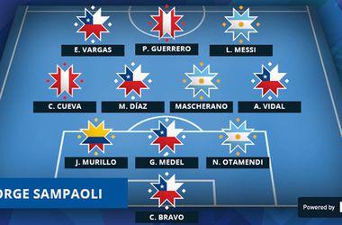 В символическую сборную Кубка Америки вошли пятеро чилийцев и трое аргентинцев