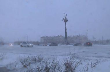 В середине лета в Воркуте выпал снег