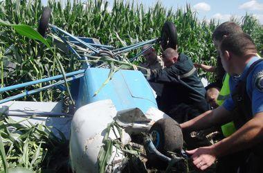 В Черниговской области разбился легкомоторный самолет, пилот погиб