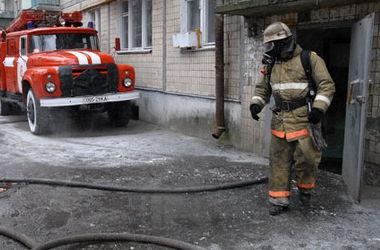 В Киеве сгорела частная баня
